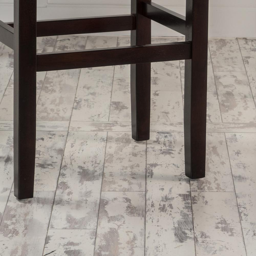 18af95fa3b3f Noble House Lisette 30 in. Ivory Backless Leather Bar Stool (Set of 2)  238551 - The Home Depot