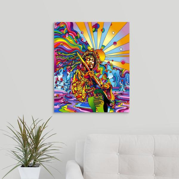 "GreatBigCanvas 20 in. x 24 in. ""Jimi  Colo"" by  Howie Green Canvas Wall Art"