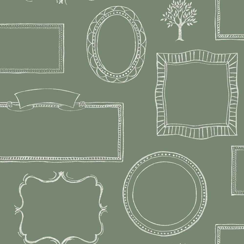 York Wallcoverings Chalkboard Frames Wallpaper-LG1367 - The Home Depot