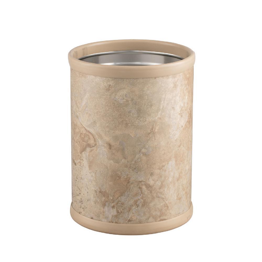 Quarry 8 Qt. Sand Stone Round Waste Basket