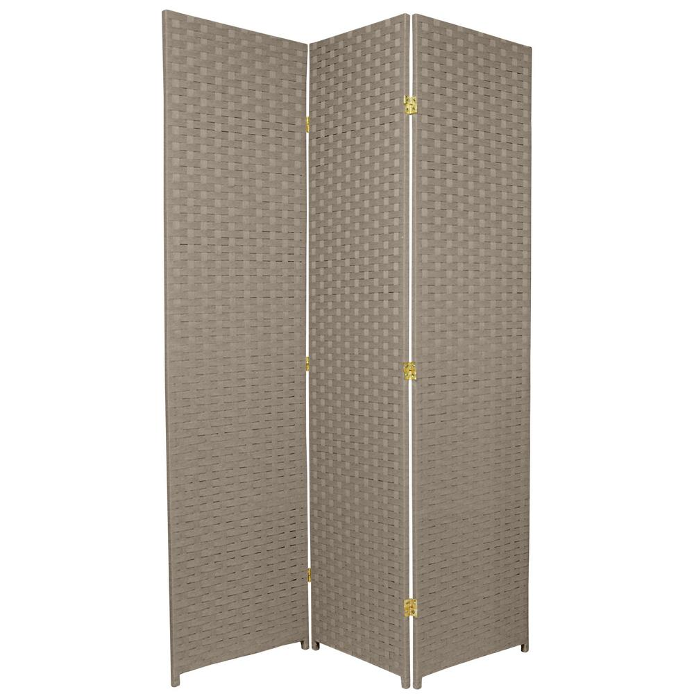 6 Ft Grey 3 Panel Room Divider Ssfiber2 3p Gry The Home