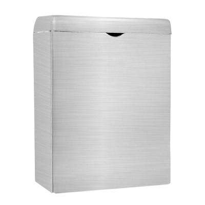 Wall-Mounted Sanitary Napkin Receptacle in Stainless Steel