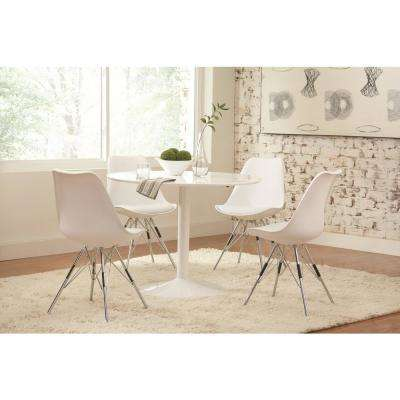 Lowry Collection White Dining Chair (Set of 2)