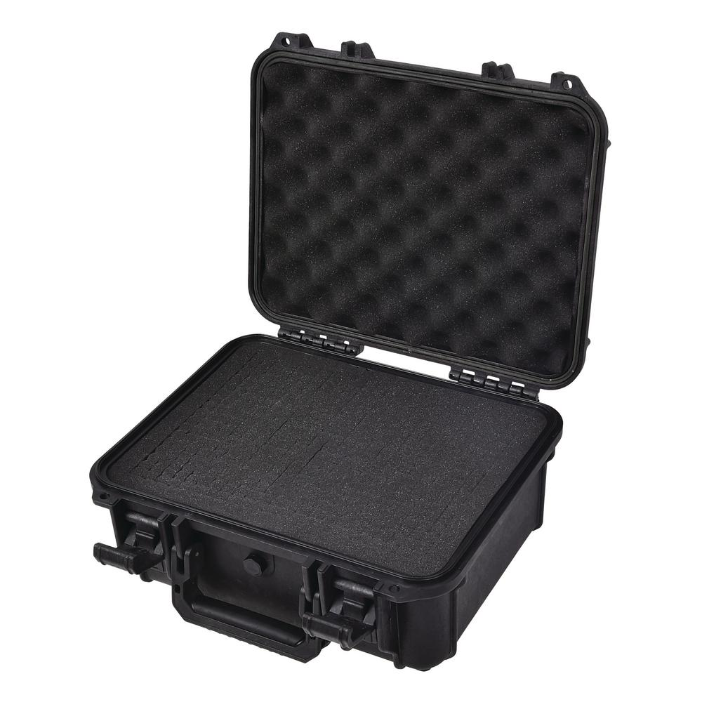 Aluminium Case Tool Box Portable Storage Case with Handle and DIY Foam Multiple Specifications to Choose from Black