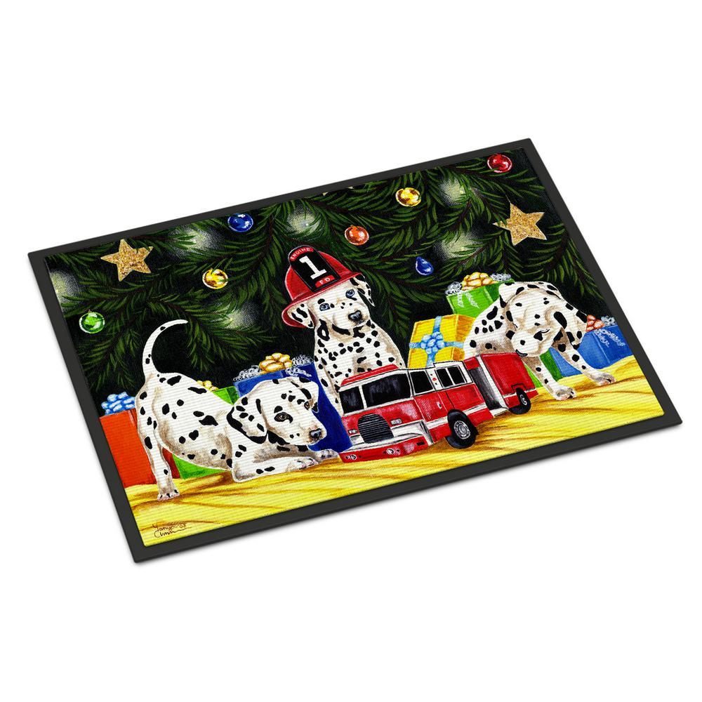 18 in. x 27 in. Indoor/Outdoor Christmas Favorite Gift Dalmatian Door Mat