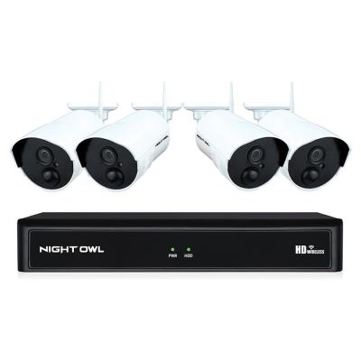 8-Channel 1080P 1TB NVR Security Camera System with 4 AC Wireless Bullet Cameras