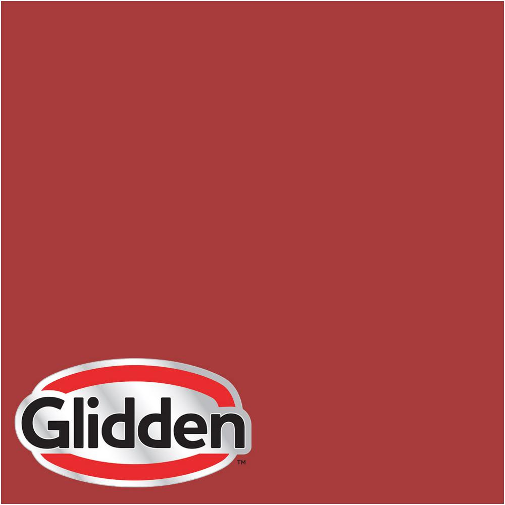 Glidden Premium 5 Gal Hdgr53d Crimson Red Satin Latex Exterior Paint Hdgr53dpx 05sa The Home Depot