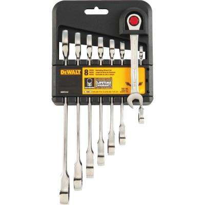 Ratcheting SAE Combination Wrench Set (8-Piece)