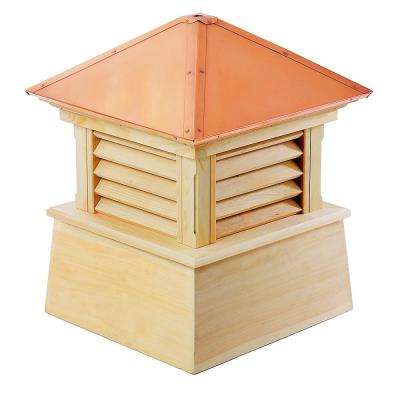 Manchester 22 in. x 27 in. Wood Cupola with Copper Roof