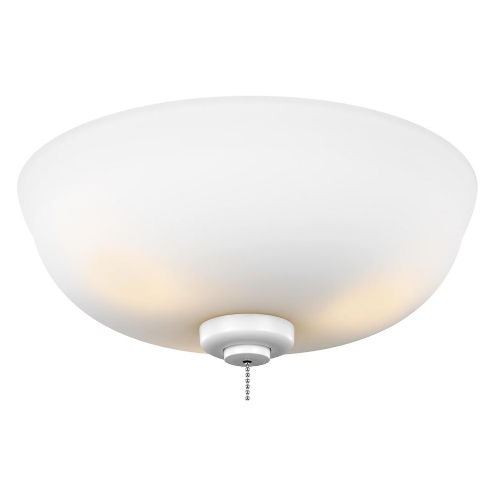 Monte Carlo 3-Light LED Ceiling Fan Light Kit-MC243RZW - The Home Depot - Monte Carlo 3-Light LED Ceiling Fan Light Kit-MC243RZW - The Home