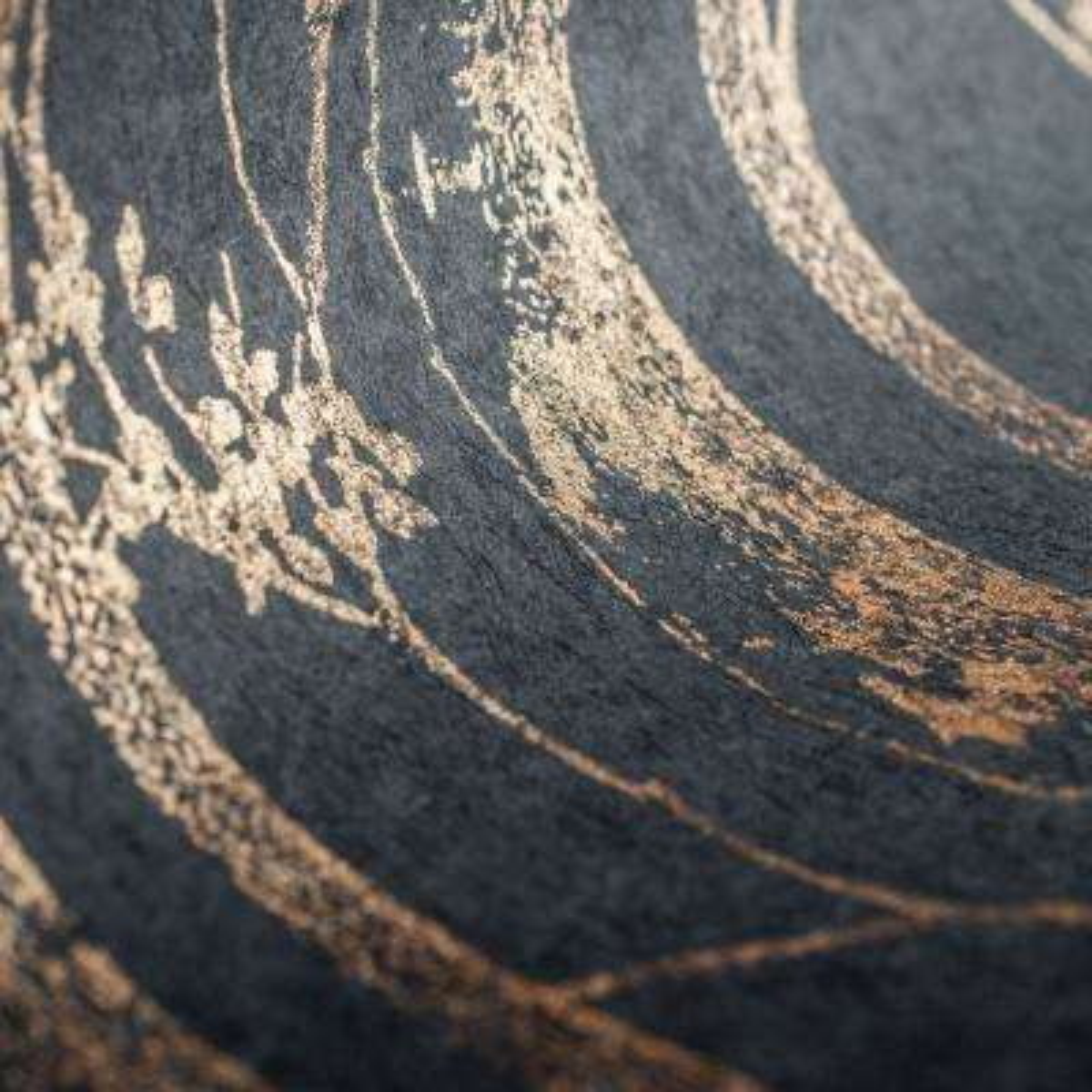 Linden Black and Copper Removable Wallpaper Sample