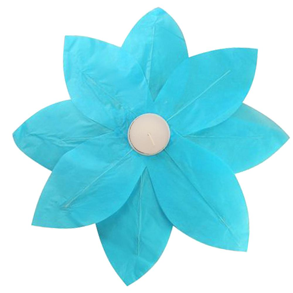 Turquoise Floating Lotus Lanterns (6-Count)
