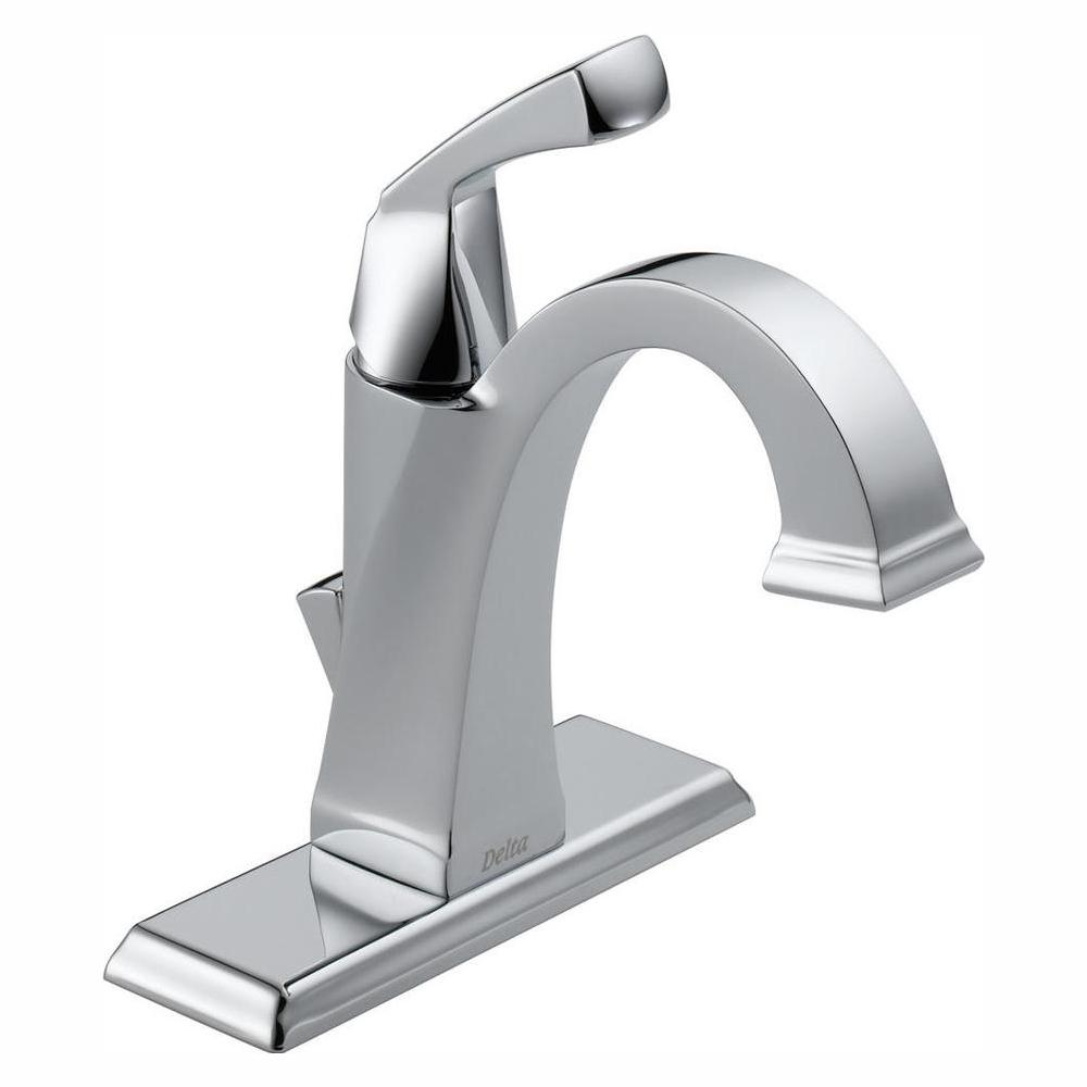 delta chrome and gold bathroom faucets