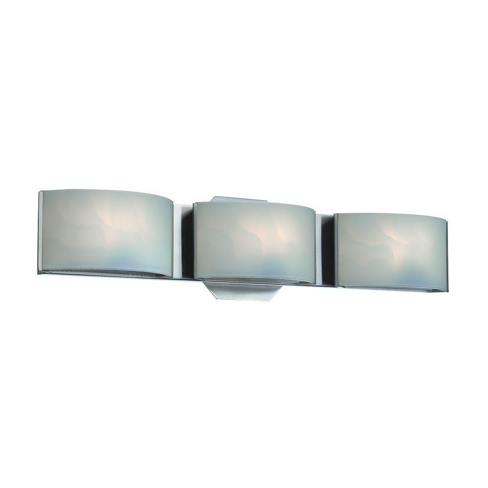 Eurofase dakota collection 3 light chrome led bath bar - Chapter 3 light bar bathroom light ...