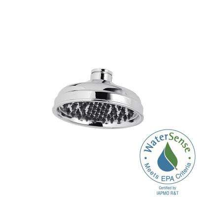 Marielle 1-Spray 6.06 in. Fixed Shower Head in Polished Chrome