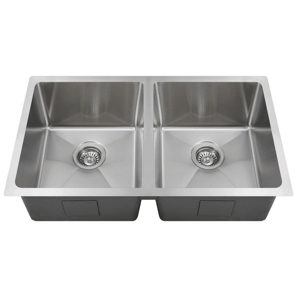 Mr Direct Undermount Stainless Steel 31 In Double Bowl