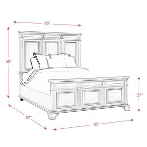 Picket House Furnishings Trent Antique Black Queen Panel Bed ...