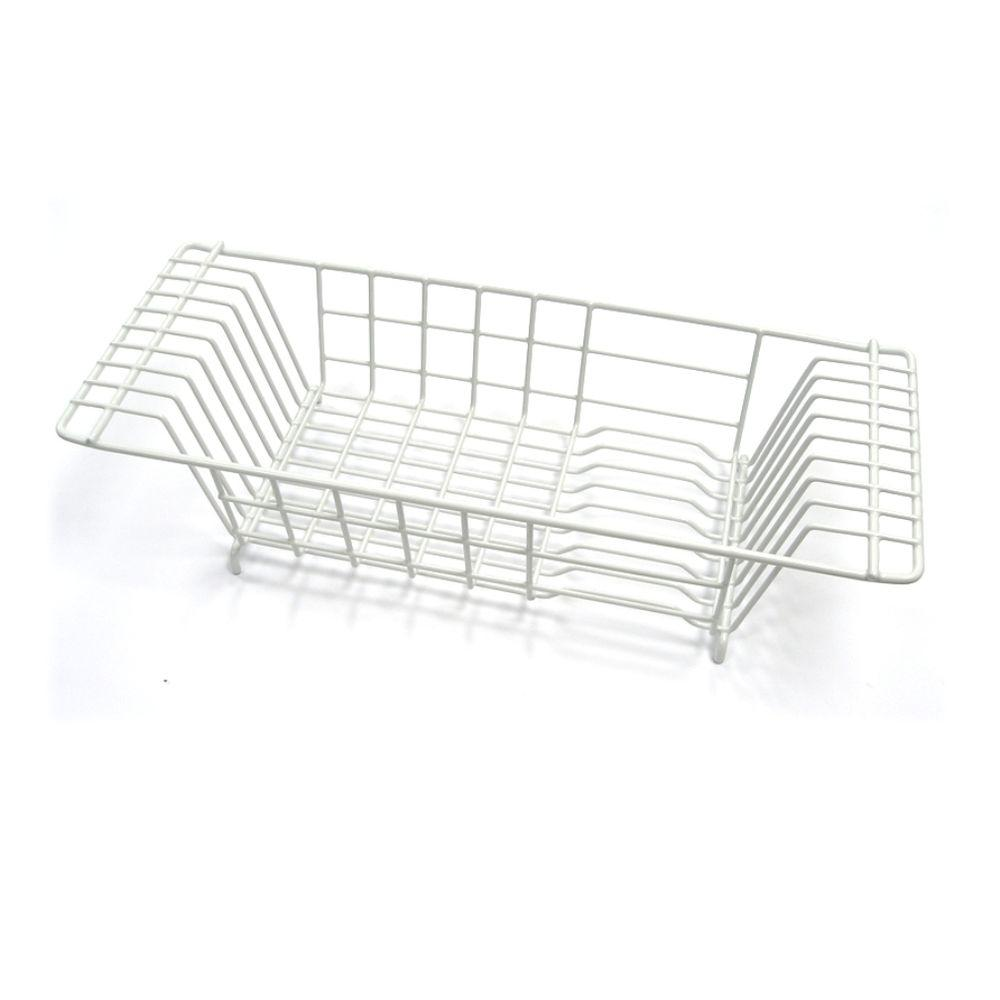 Kitchen Sink Dish Drainer In White