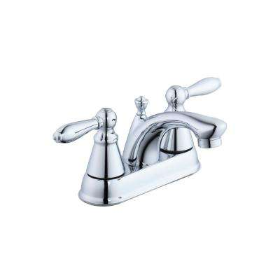 2500 Series 4 in. Centerset 2-Handle Bathroom Faucet in Chrome