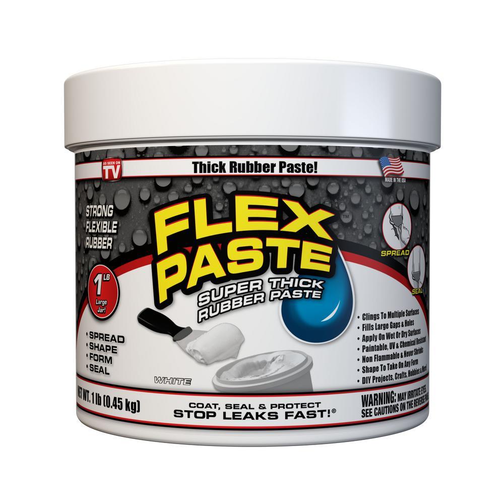 Flex Paste 1 lb. White All-Purpose Strong Flexible Watertight Multipurpose Sealant