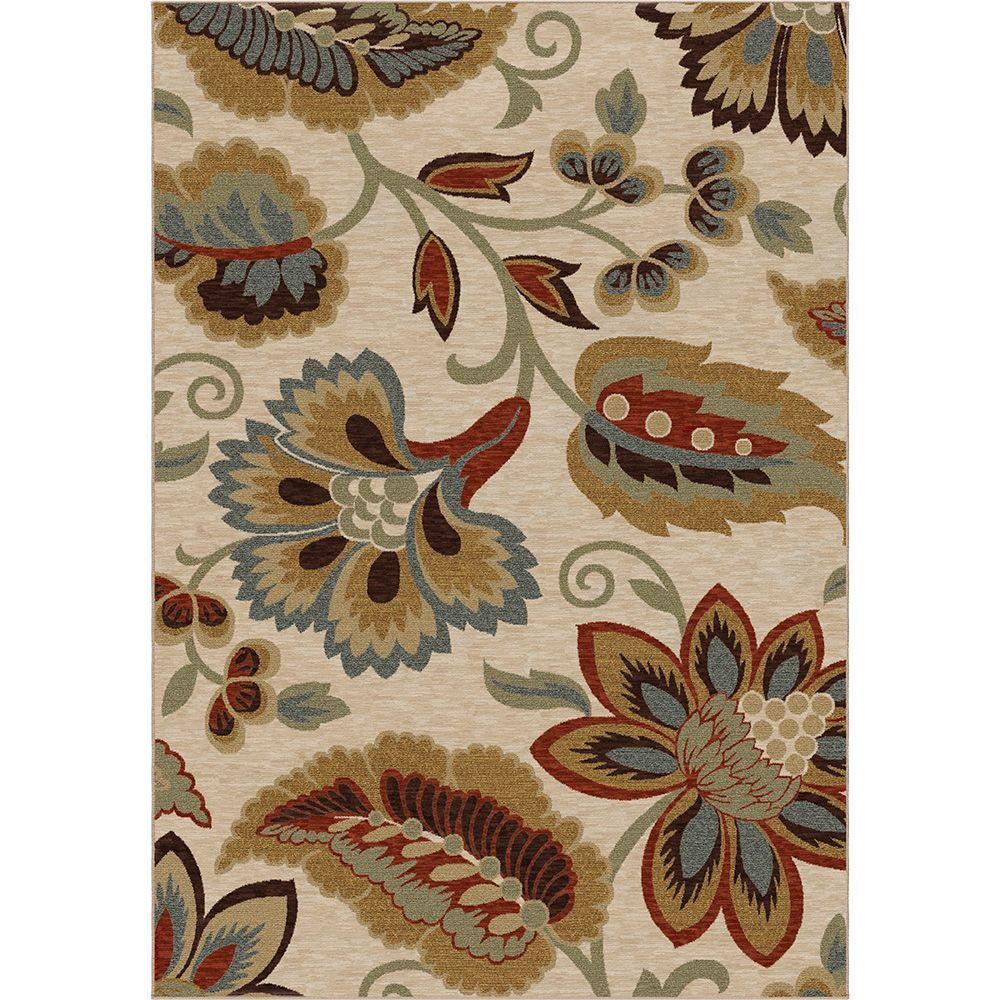 Orian Rugs Dooley Khaki 5 ft. 3 in. x 7 ft. 6 in. Area Rug