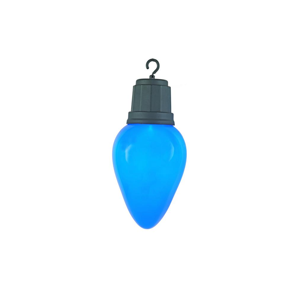 HomeAccentsHoliday Home Accents Holiday 13 in. 2-Light LED Blue Light-Up Christmas Bulb