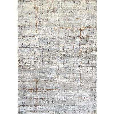Torino Ivory/Red 3 ft. 11 in. x 5 ft. 7 in. Contemporary Polyester Area Rug