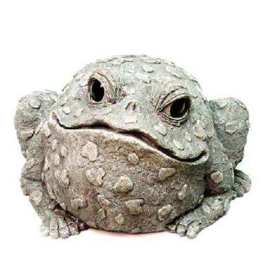 12 in. Jumbo Toad Collectible Garden Frog Statue
