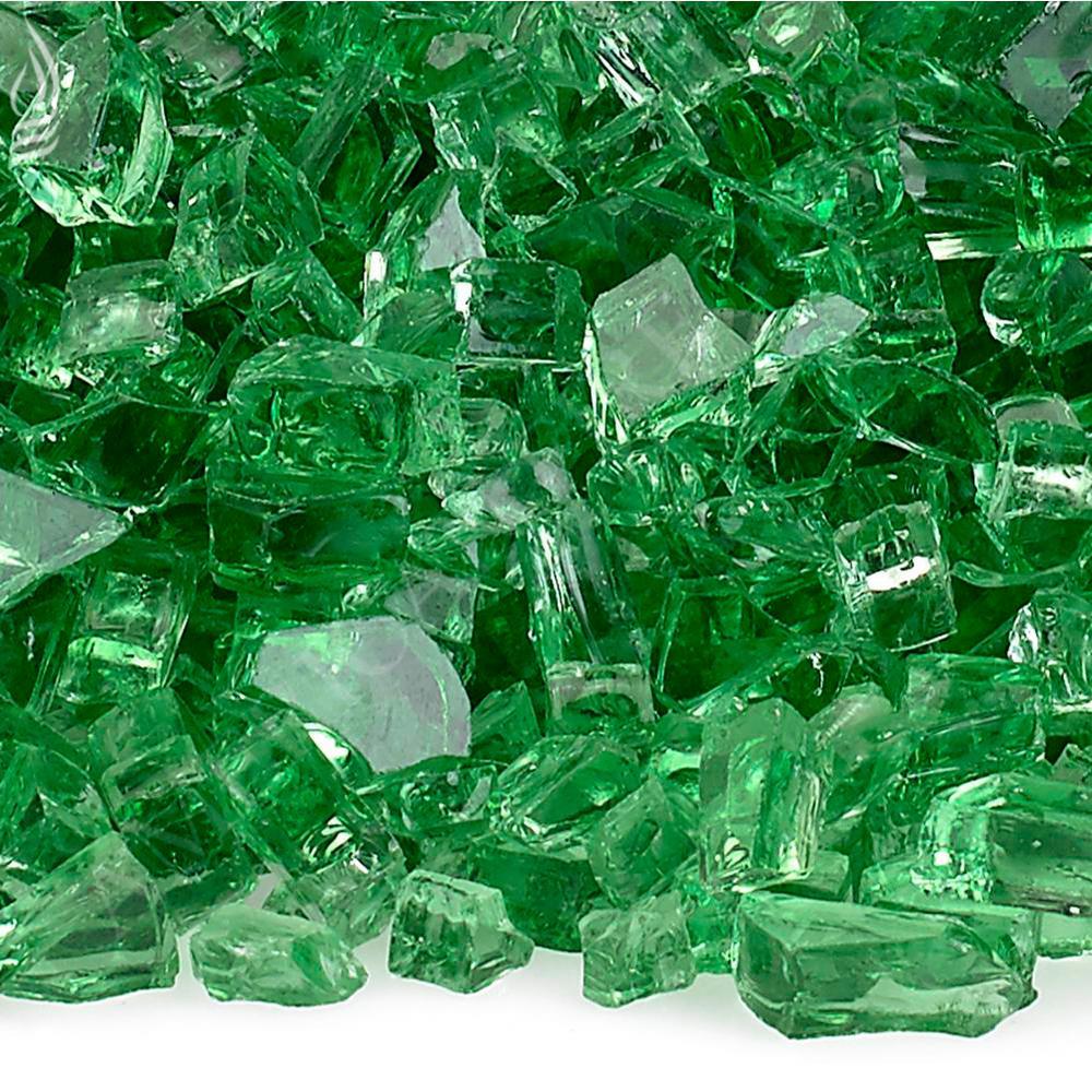 1/4 in. Evergreen Fire Glass 10 lbs. Bag