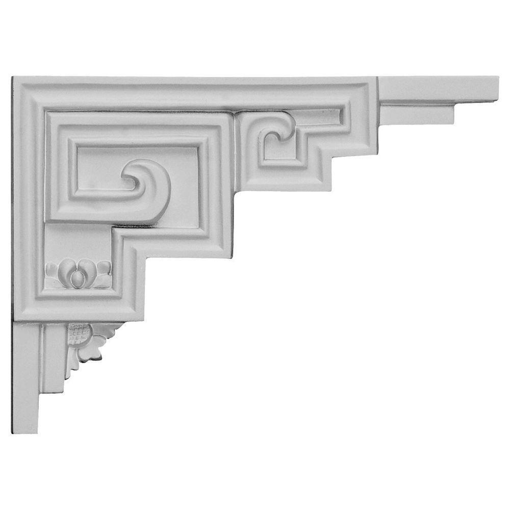 1/2 in. x 9 in. x 6-1/2 in. Polyurethane Right Austin Stair Bracket Moulding