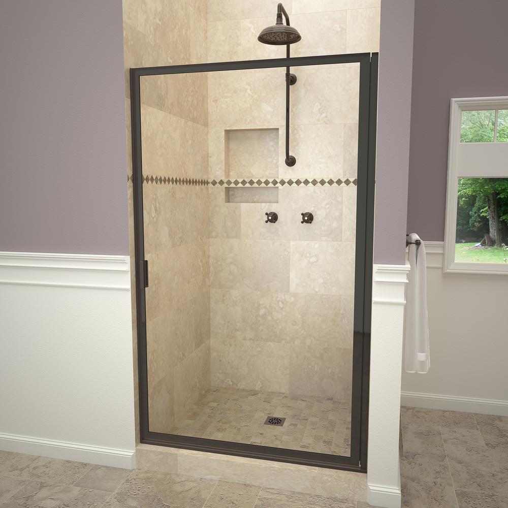 Redi Swing 1100 Series 28-3/8 in. W x 67 in. H Framed Swing Shower ...