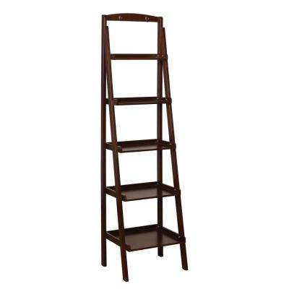 Nicole Espresso 5-Tier Ladder Shelf