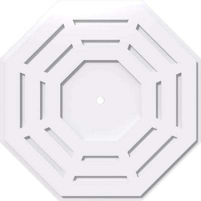 26 in. OD x 1 in. ID x 1 in. P Westin Architectural Grade PVC Contemporary Ceiling Medallion