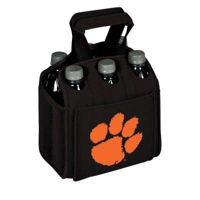Clemson University Tigers 6-Bottles Black Beverage Carrier