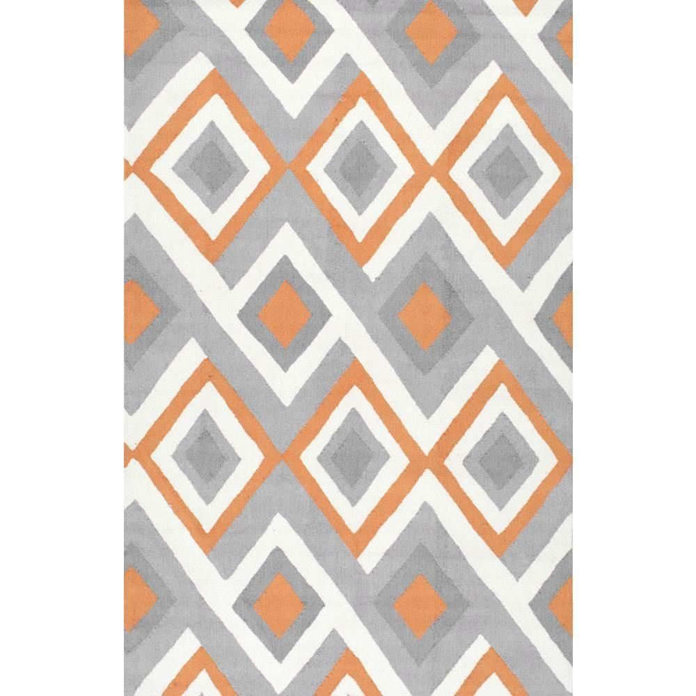 area rugs with orange accents brown red area nuloom anya orange ft area rug rugbhbc62c508 the home depot