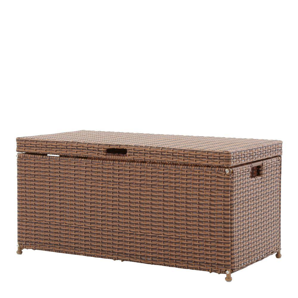 Suncast Java 134 Gal. Resin Wicker Deck Box BMDB134004   The Home Depot