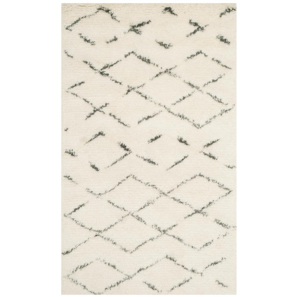 Casablanca Ivory/Gray 3 ft. x 5 ft. Area Rug