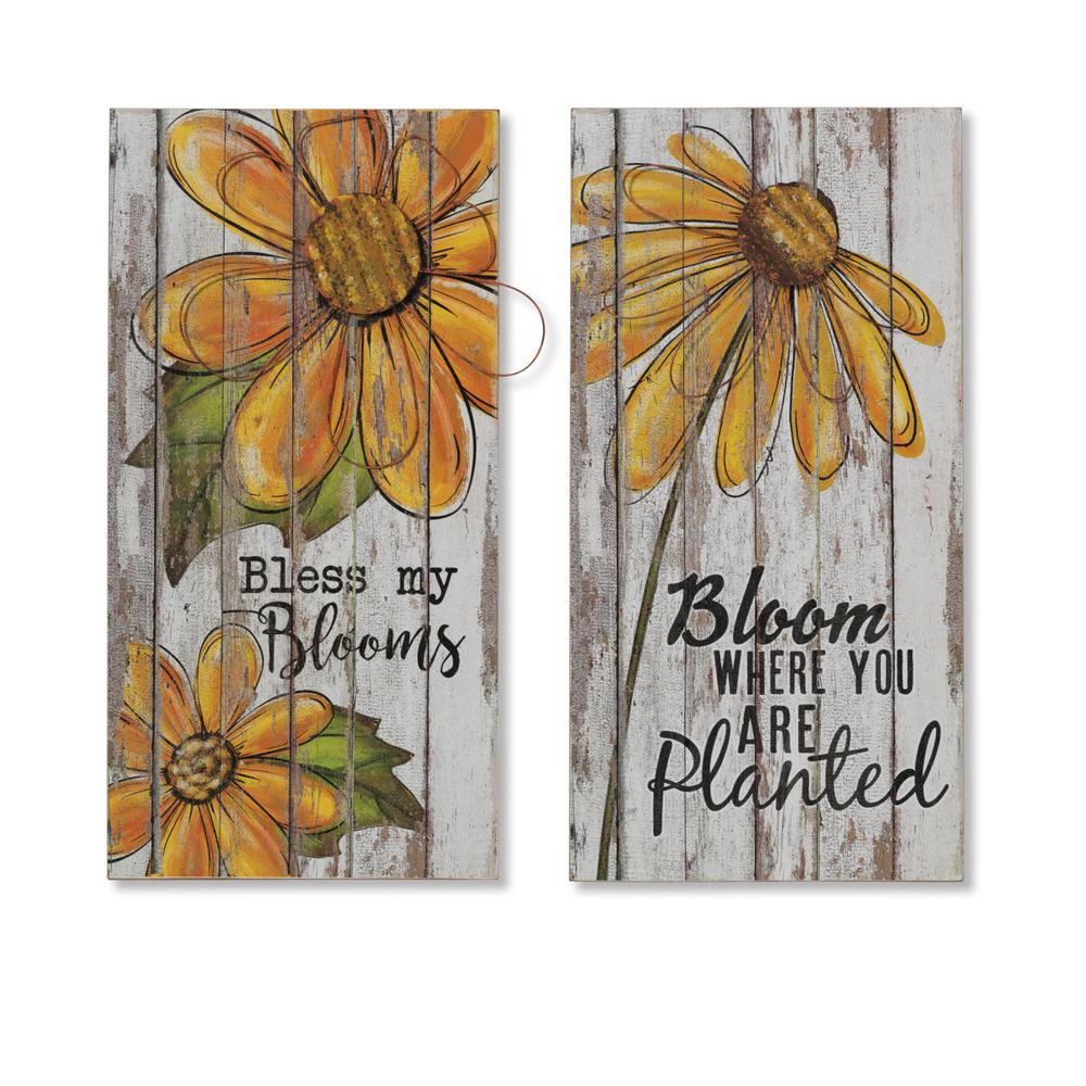 Asst 23.5 in. H Wall Art Decor (Set of 2)