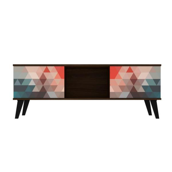 Luxor Saratoga 53 15 in  Multi Color Red and Blue TV Stand
