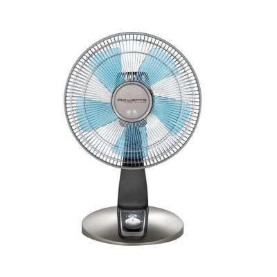Turbo Silence 12 in. 4-Speed Desk Fan