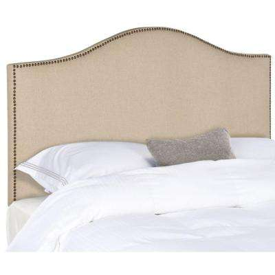 Connie Stainless Steel Hemp Full Headboard with Brass Nails