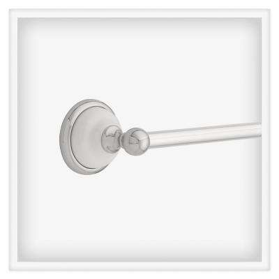 Bellini 18 in. Towel Bar in Polished Chrome and White
