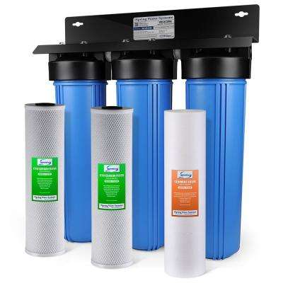 3 Stage Whole House Water Filtration System W 20x4 5 In
