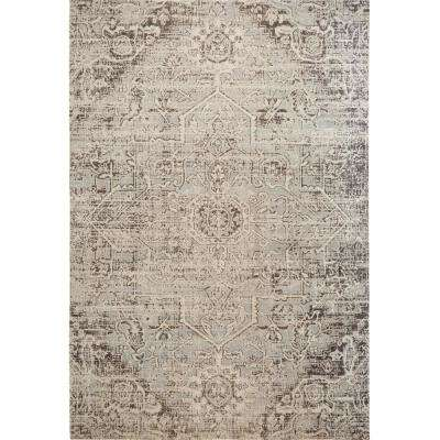 Patio Sofia Gray 7 ft. 9 in. x 10 ft. 2 in. Indoor/Outdoor Area Rug
