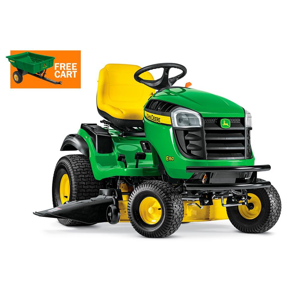 John Deere E160 48 in. 24 HP V-Twin ELS Gas Hydrostatic Lawn Tractor