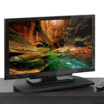 Indo 23 in. Black Particle Board Swivel Board Entertainment Center Fits TVs Up to 23 in.