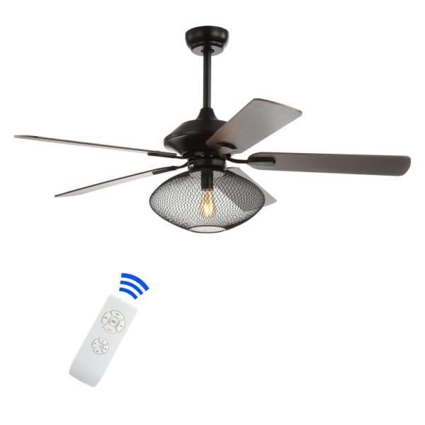 Clift 52 in. Oil Rubbed Bronze 1-Light Mid-century LED Ceiling Fan with Light and Remote