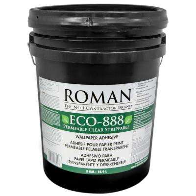 ECO-888 5 gal. Strippable Clear Wallcovering Adhesive
