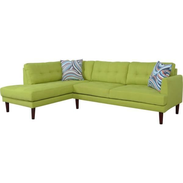 Star Home Living 2-Piece Apple Green Right Sectional Sofa Set ...