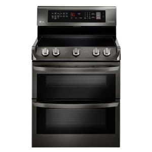 LG Electronics 7.3 cu. ft. Double Oven Electric Range with ProBake Convection Oven in Black Stainless Steel by LG Electronics